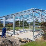 Levin Motorhome Storage building in construction 11.8m x 11.3m